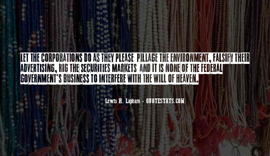 Quotes About The Business Environment #1170470
