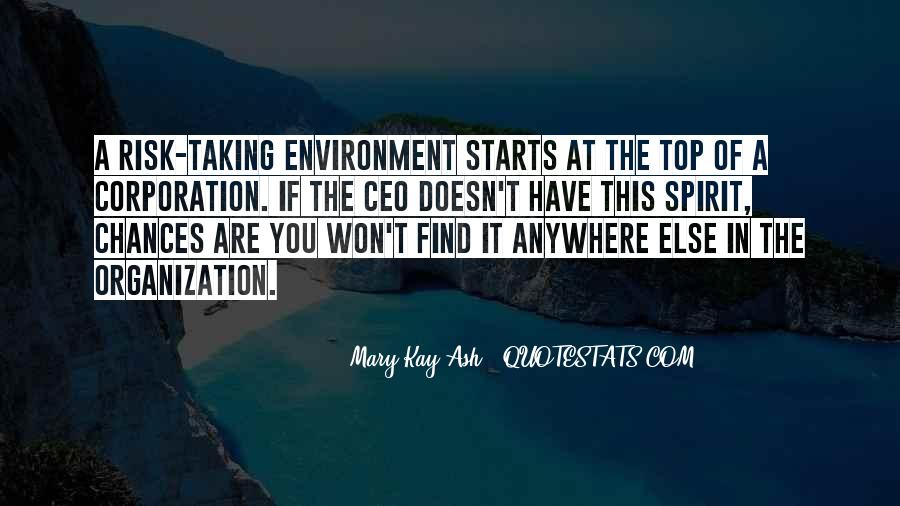 Quotes About The Business Environment #1621678