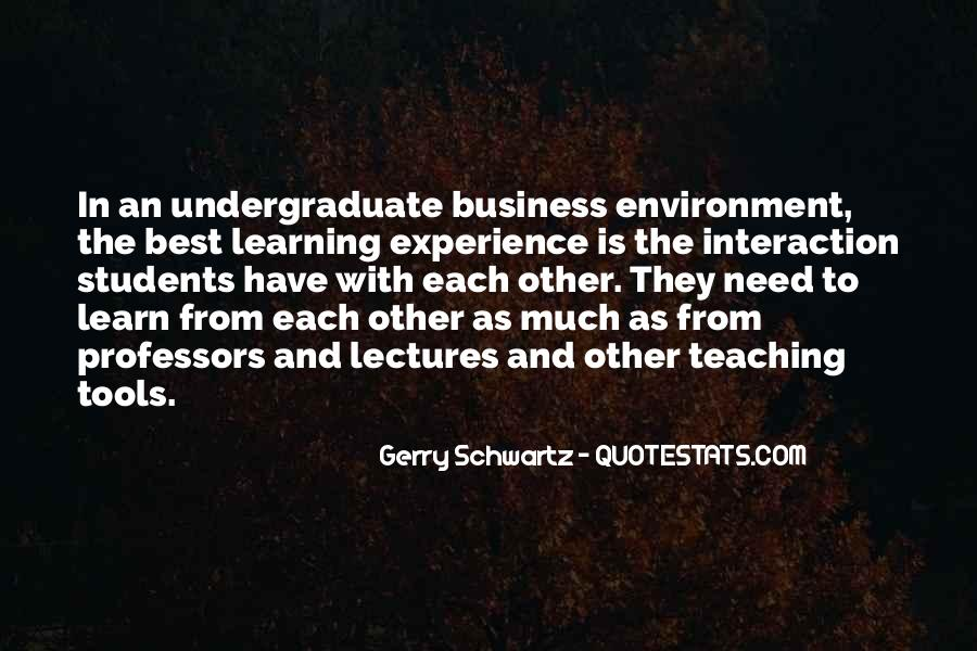 Quotes About The Business Environment #605876