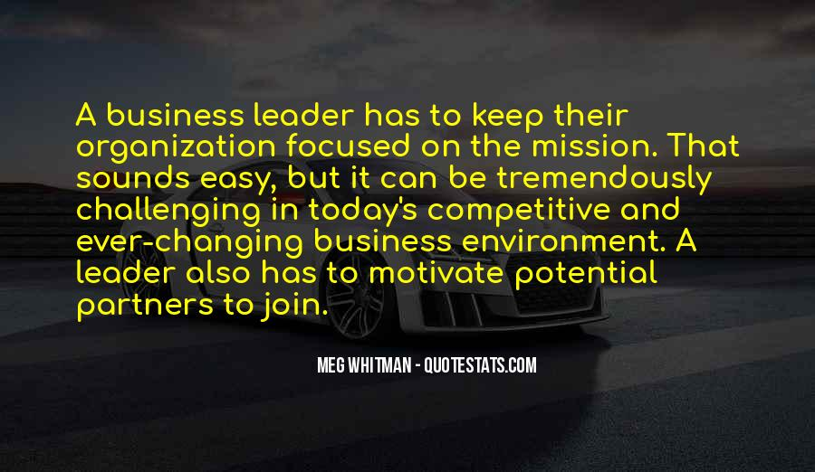 Quotes About The Business Environment #992985