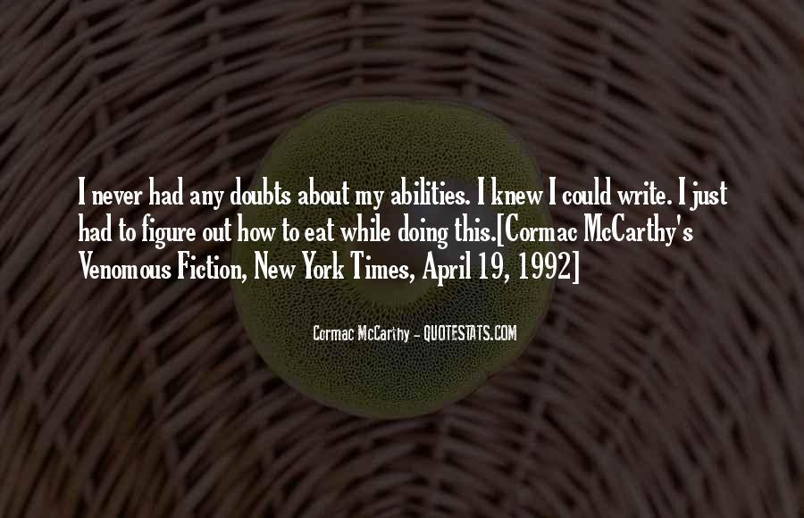 Mccarthy's Quotes #239850