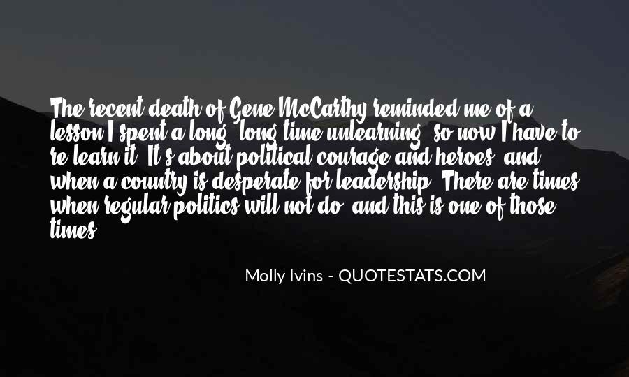 Mccarthy's Quotes #4918