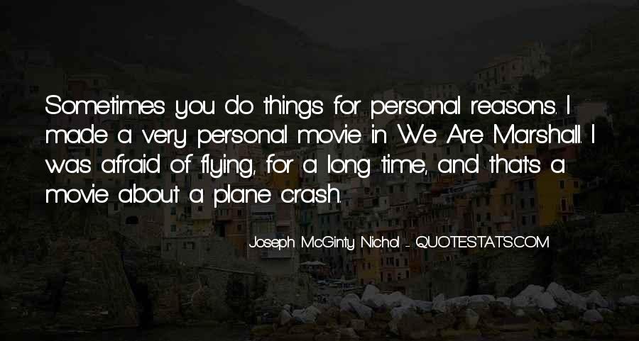 Quotes About The Marshall Plane Crash #625215