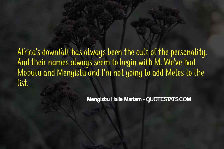 Mengistu Quotes #1116157