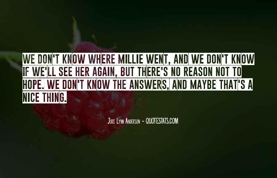 Millie's Quotes #1038606