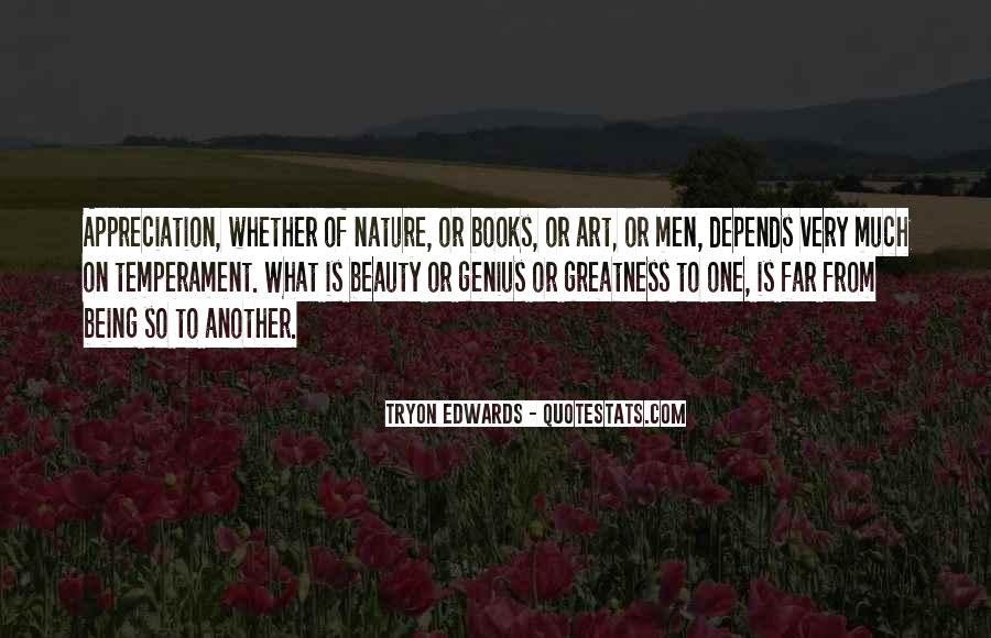 Quotes About Appreciation Of Nature #1548274