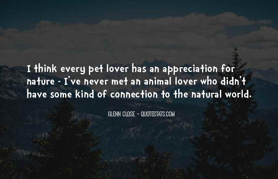 Quotes About Appreciation Of Nature #1653280