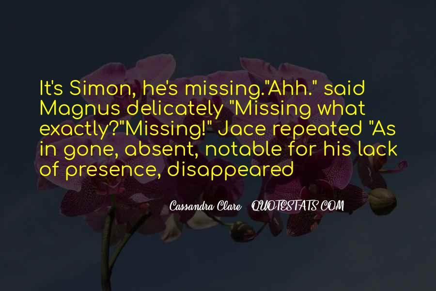 Missing's Quotes #178575