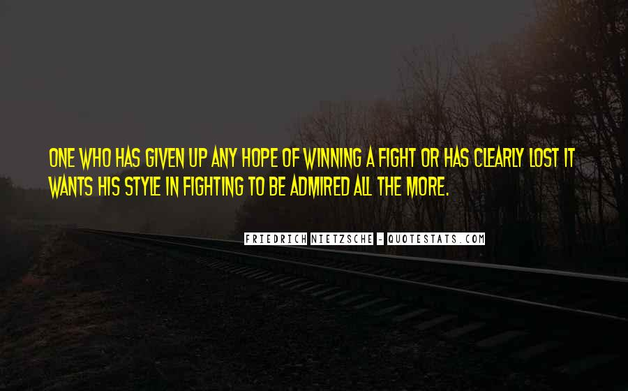 Quotes About Winning The Fight #1217187