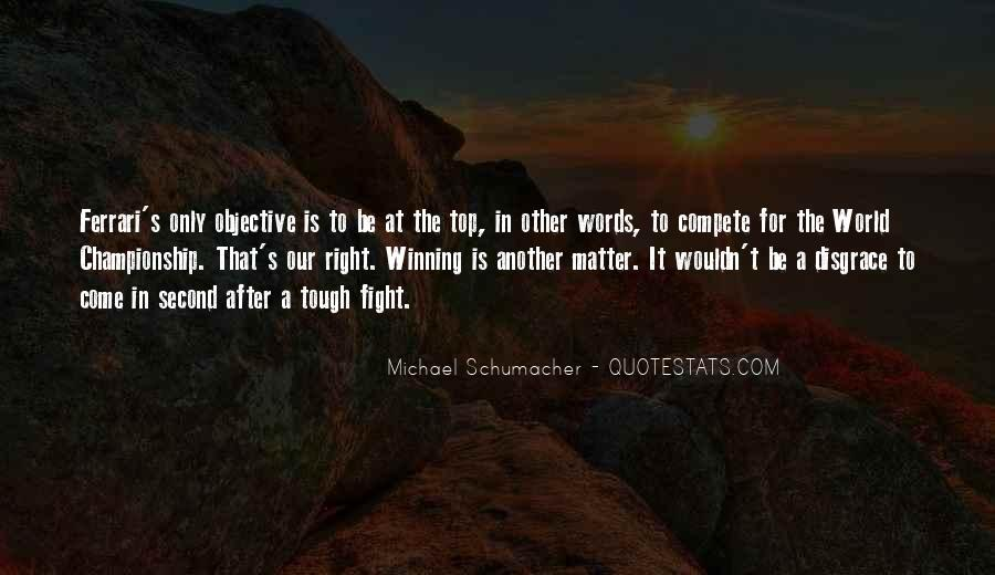 Quotes About Winning The Fight #1275300