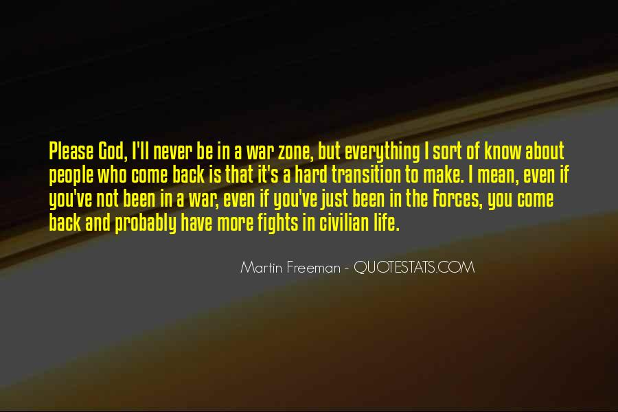 Quotes About War Zone #1022496