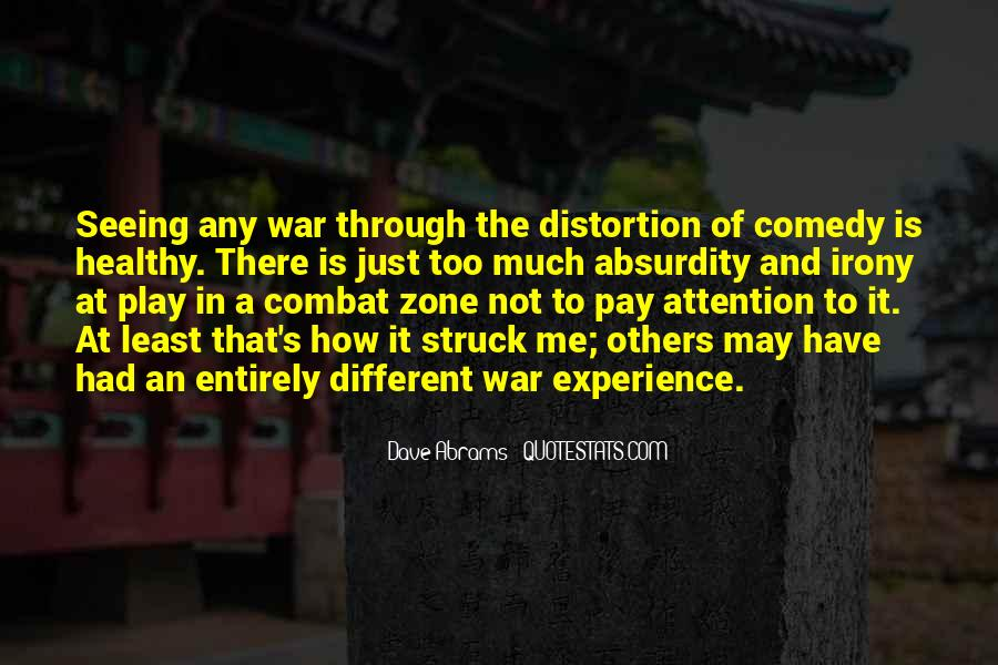 Quotes About War Zone #1325034