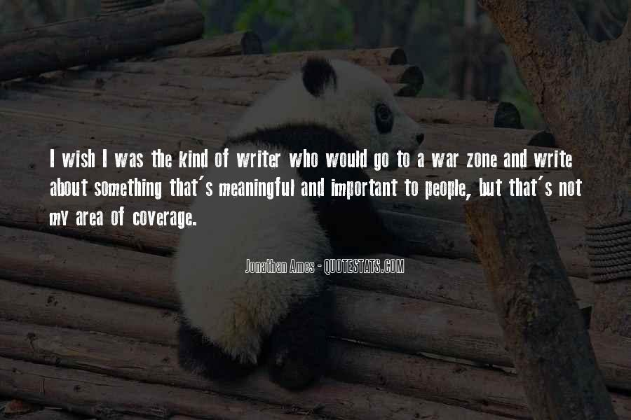 Quotes About War Zone #1404651