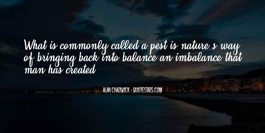 Quotes About Imbalance #503525