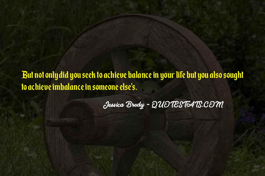 Quotes About Imbalance #620744
