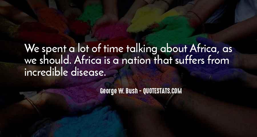 Quotes About Disease In Africa #1139558