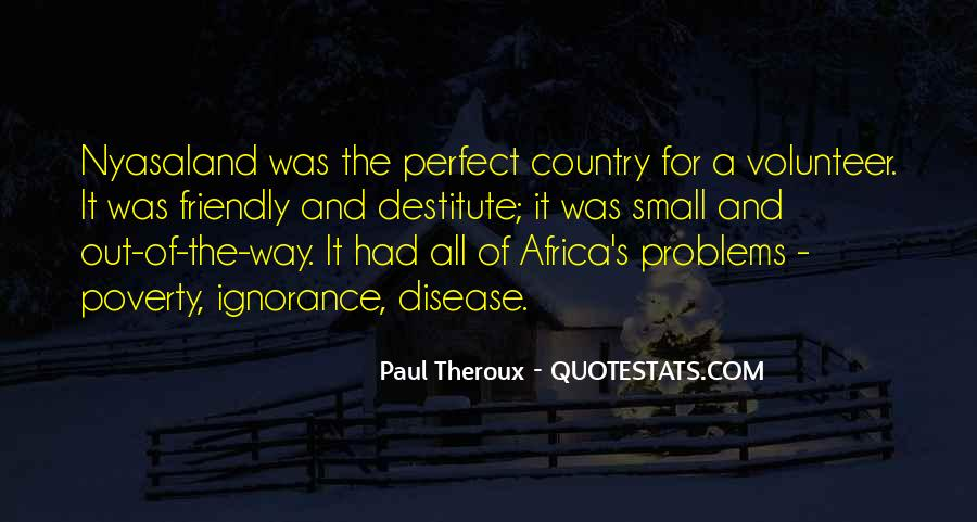 Quotes About Disease In Africa #1515829