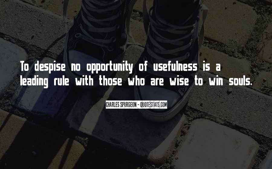 Quotes About Usefulness #506553
