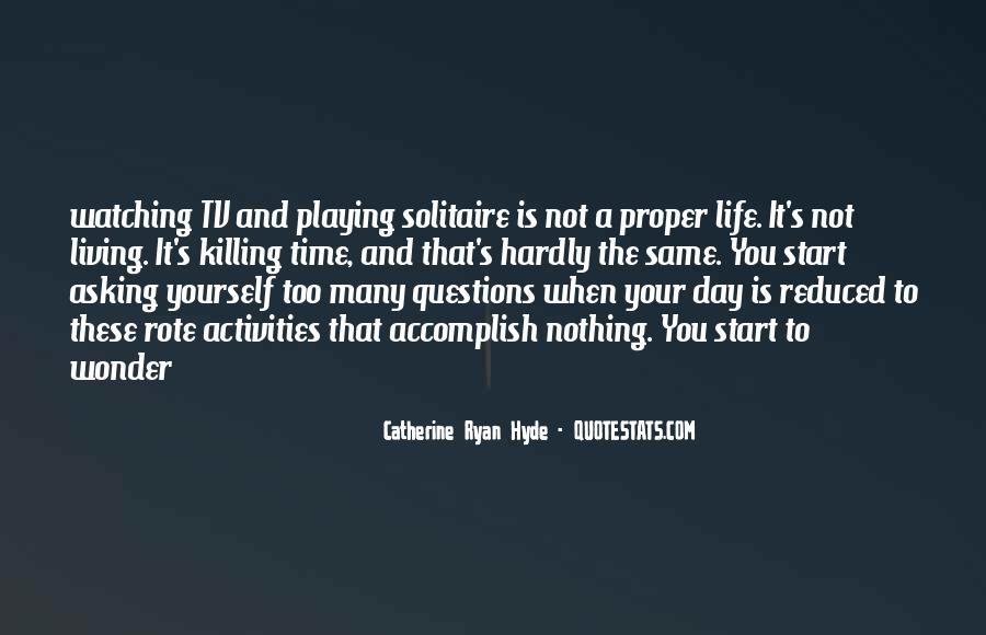 Quotes About Solitaire #1672706