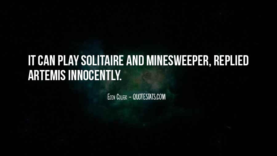 Quotes About Solitaire #805756