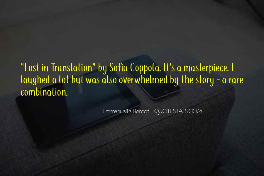 Quotes About Lost In Translation #1055146