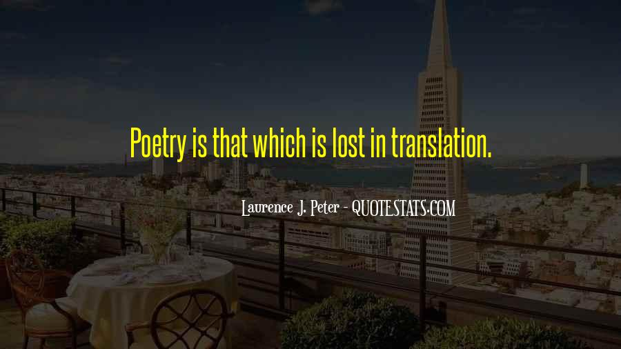 Quotes About Lost In Translation #40406