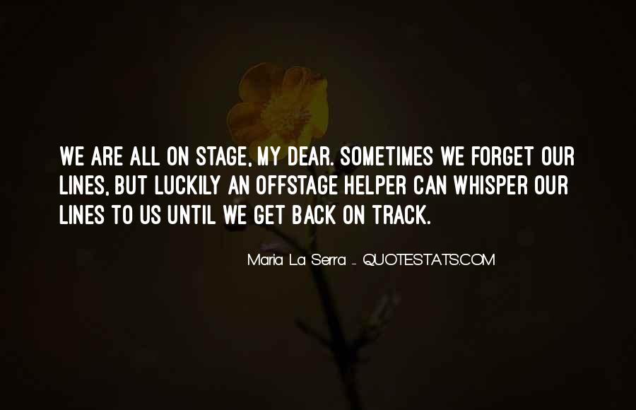 Offstage Quotes #291443