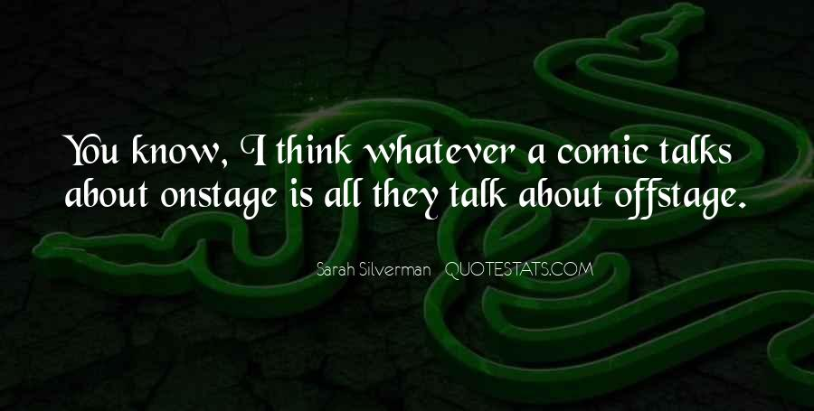 Offstage Quotes #718573
