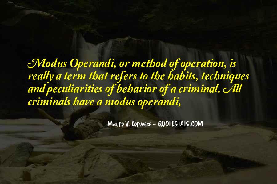 Operandi Quotes #1179919
