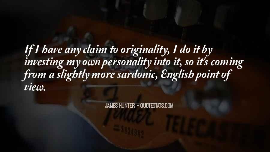 Originality's Quotes #861307