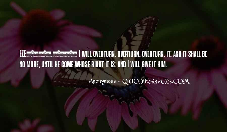 Overturn Quotes #941639