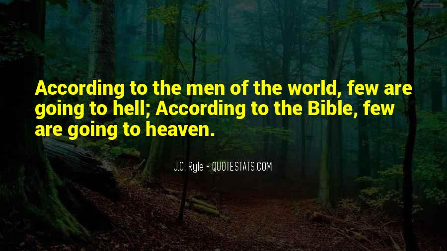 Quotes About Heaven And Hell In The Bible #1595524