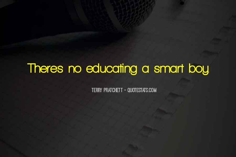 Quotes About Smart Boy #48699