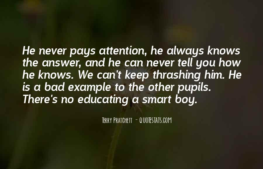 Quotes About Smart Boy #842070