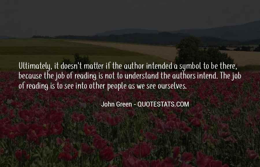 Quotes About Reading John Green #1733626