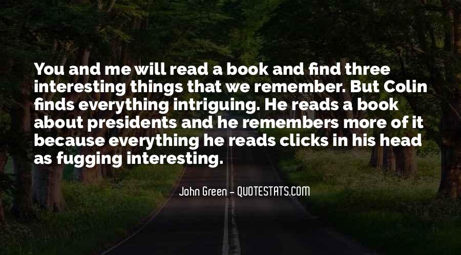 Quotes About Reading John Green #426068