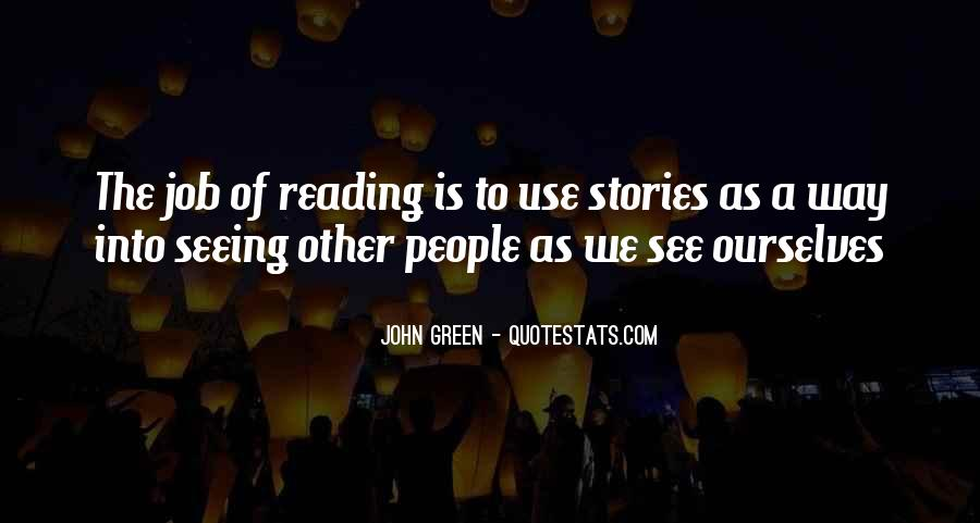 Quotes About Reading John Green #501360