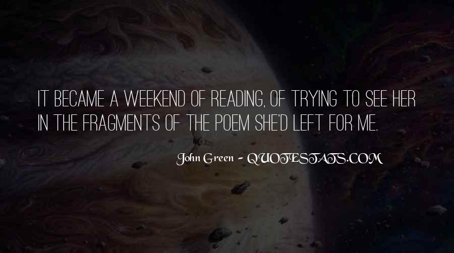 Quotes About Reading John Green #868670