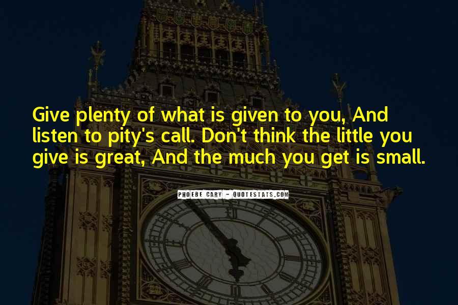 Plenty's Quotes #120843