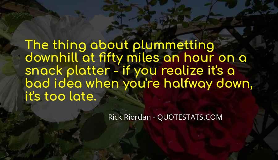 Plummetting Quotes #1546310