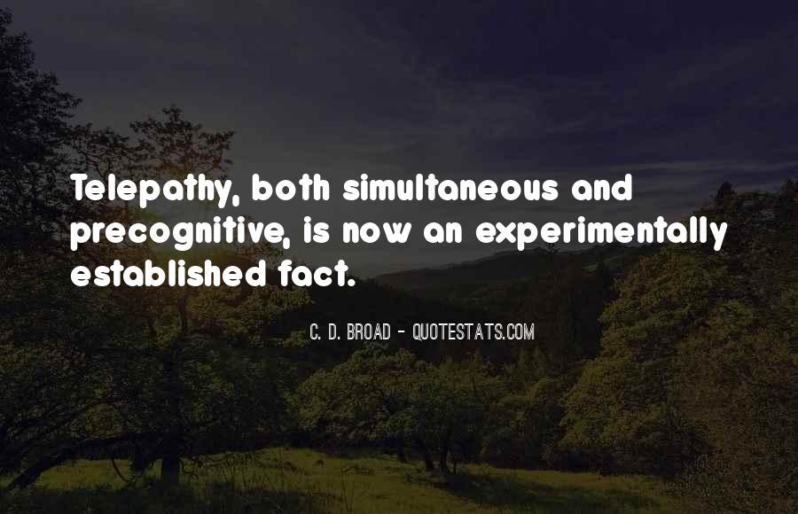 Precognitive Quotes #1316568