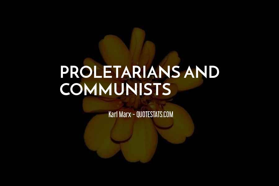 Proletarians Quotes #1384470