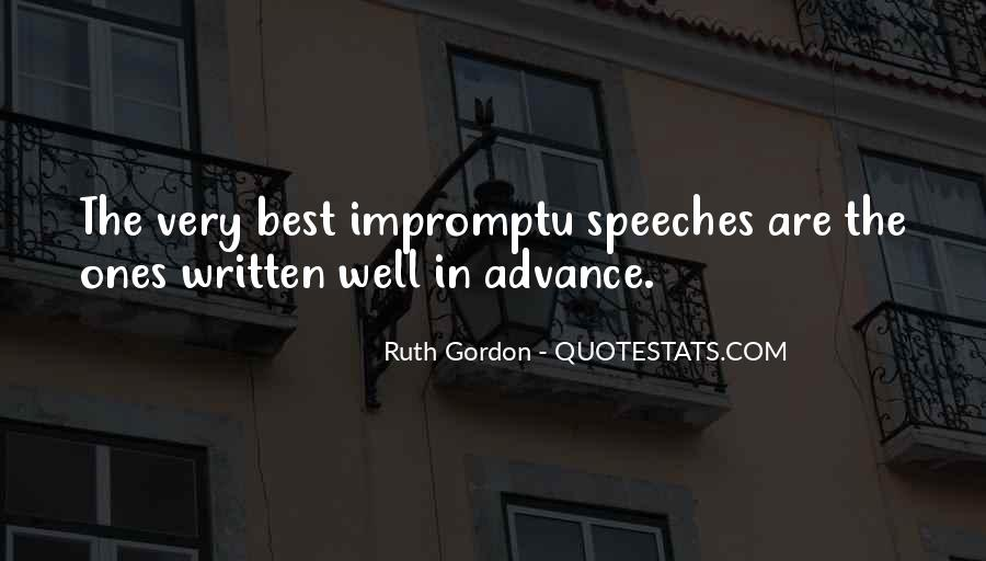 Quotes About Speeches #483462