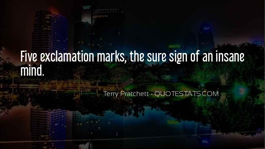 Quotes About Exclamation Marks #13494