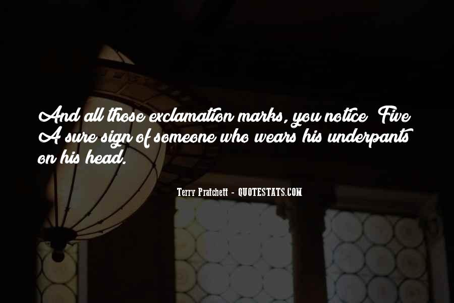 Quotes About Exclamation Marks #1351194