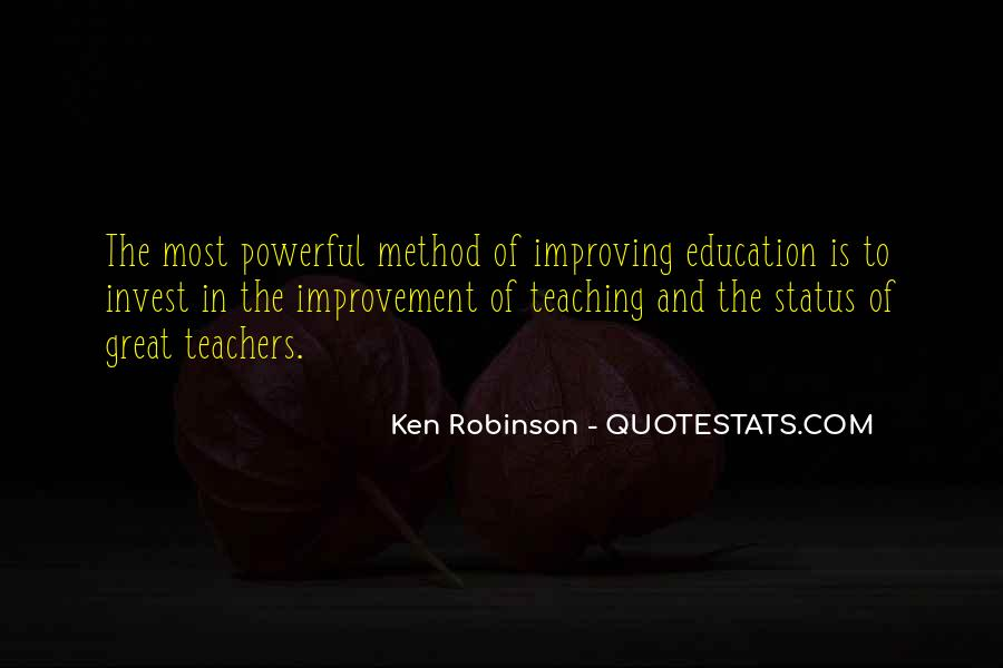 Quotes About Improving Education #277599
