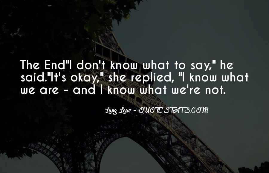 S'okay Quotes #23019
