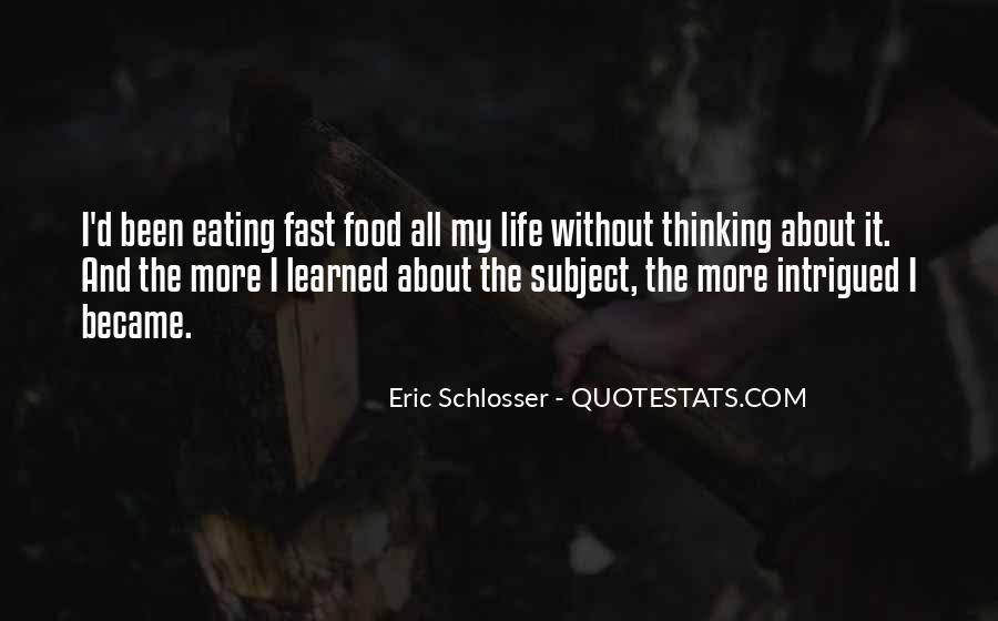 Schlosser's Quotes #1089655