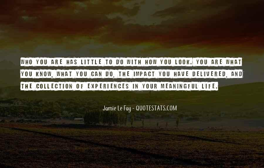 Quotes About Meaningful Life #130565