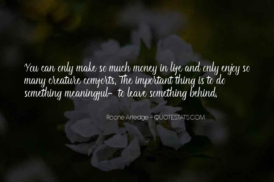 Quotes About Meaningful Life #166147